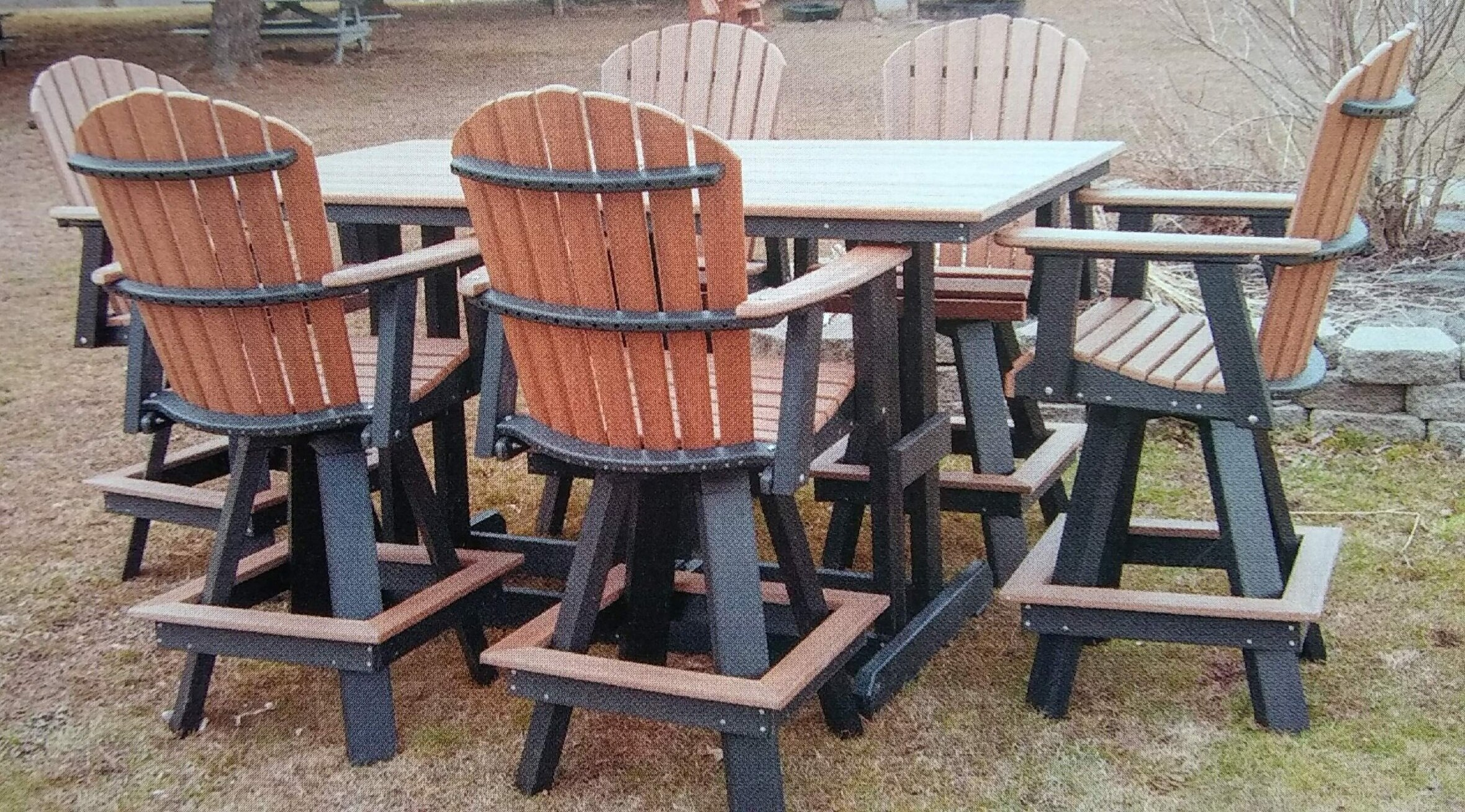 patio or deck table set made from recycled milk jugs ma pa s