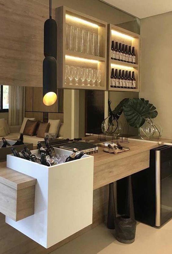 35 Outstanding Home Bar Ideas And Designs — Renoguide Australian | Home Mini Bar Design Under Staircase | Wine Cellar | Living Room | Basement Stairs | Basement Bar | Interior Design Ideas