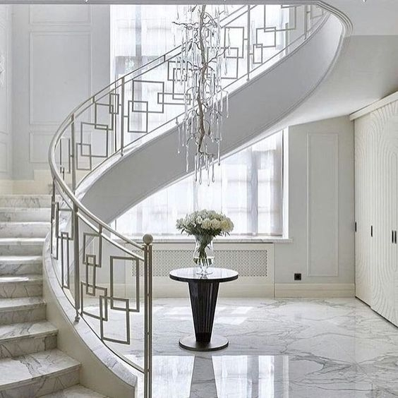50 Amazing And Modern Staircase Ideas And Designs — Renoguide | Stair Railing Design Modern With Glass | L Shape | Interior Residential Metal | Simplistic | Grill | Button Glass
