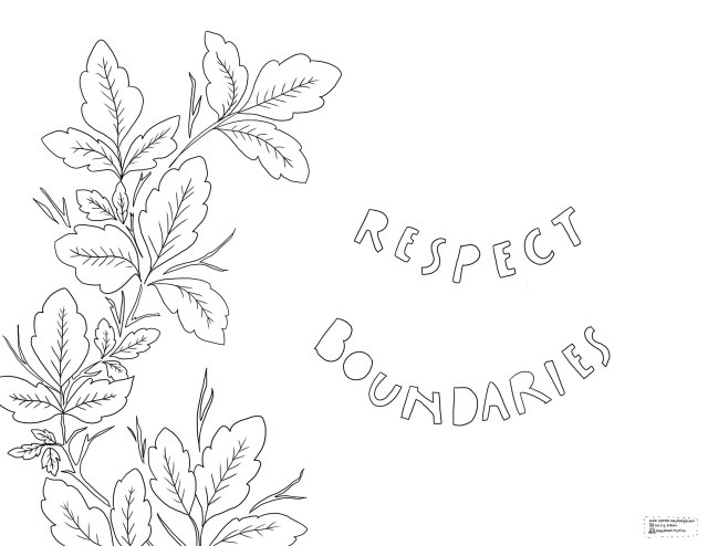 *FREE* Respect Boundaries - Downloadable Coloring Page