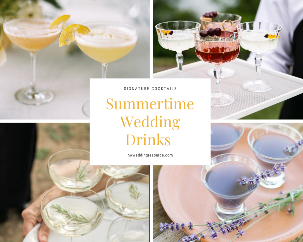 Summer Inspired Signature Drinks to Serve During Cocktail Hour