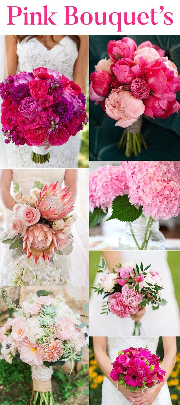 Pink Wedding Bouquet Inspiration