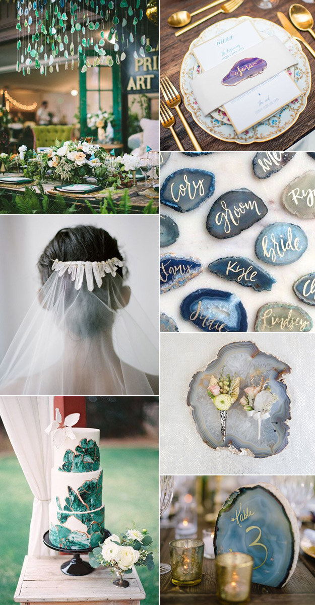 Incorporating Agates & Crystals Into Your Wedding