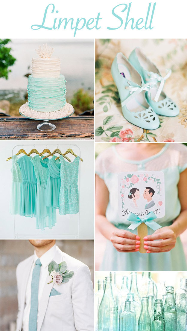 Color Inspiration: Limpet Shell Wedding Inspiration