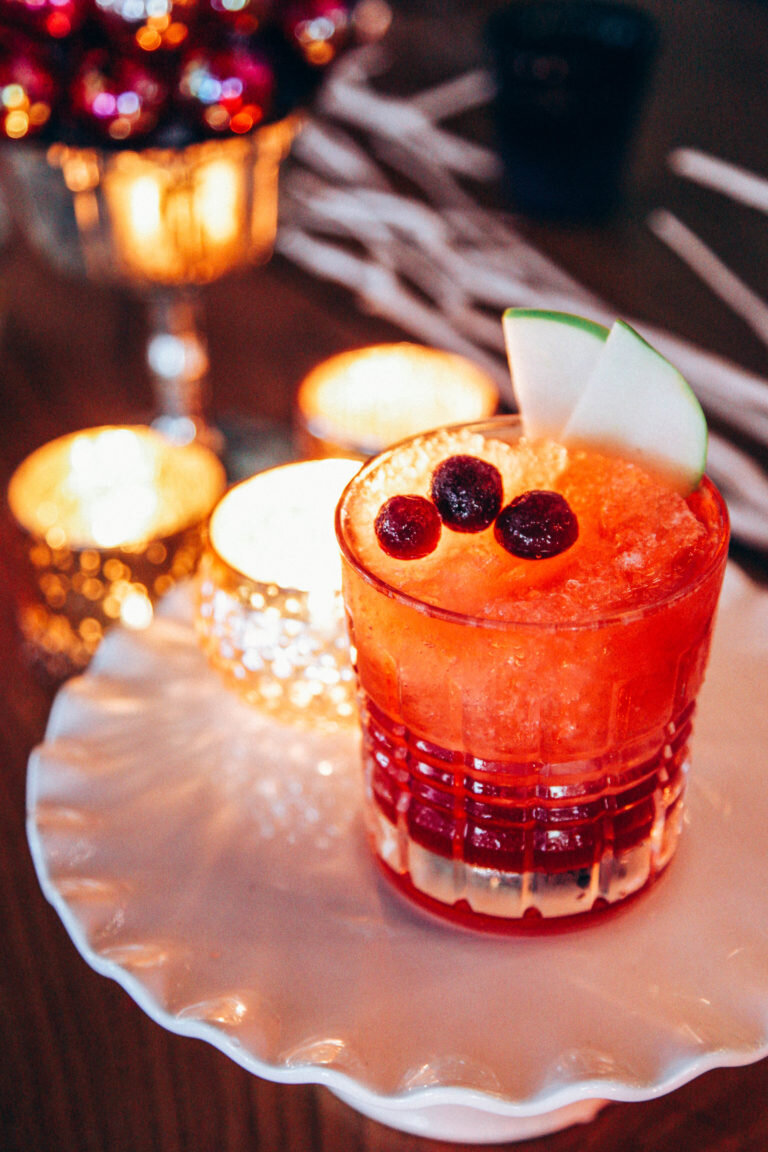 Holiday Sangria - Spice up your favorite Washington rosé with this scrumptious sangria featuring cinnamon, cloves, anise, fresh cranberries, Granny Smith apples, Ruby port, Solarno, cranberry juice and surprise, crushed red peppers!from Herban Feast Catering
