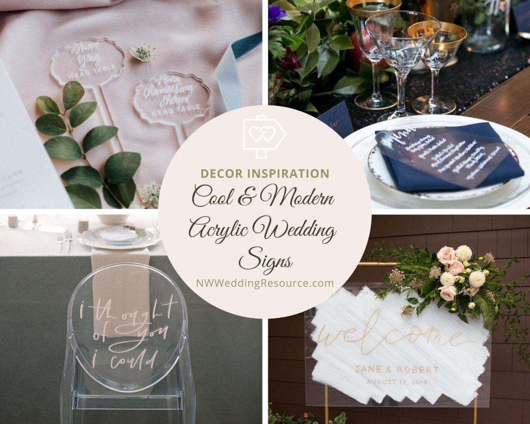 Cool and Modern Acrylic Wedding Signs.jpg