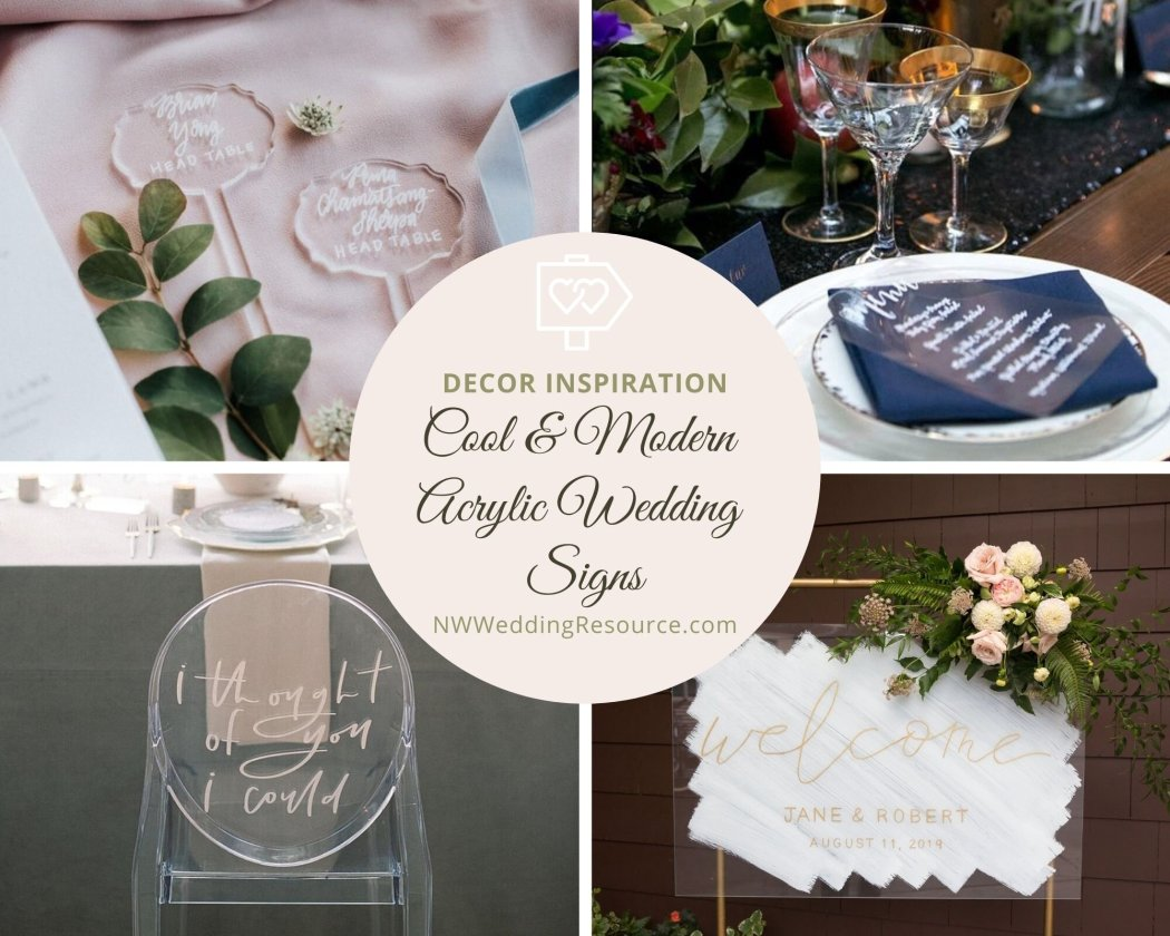 14 Cool and Modern Acrylic Wedding Signs