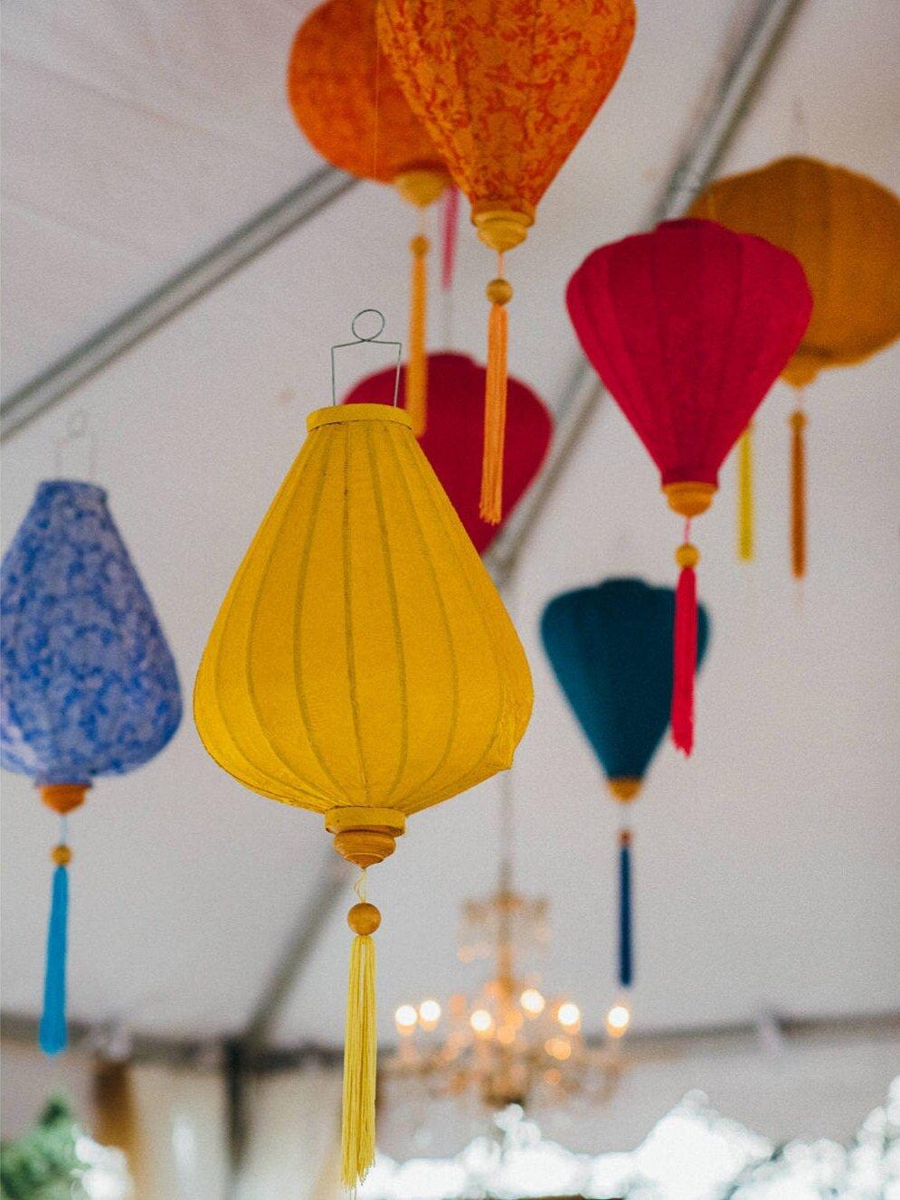 Hanging Yellow Lantern from Vintage Ambiance , image by Jenn Tai Photo Artistry