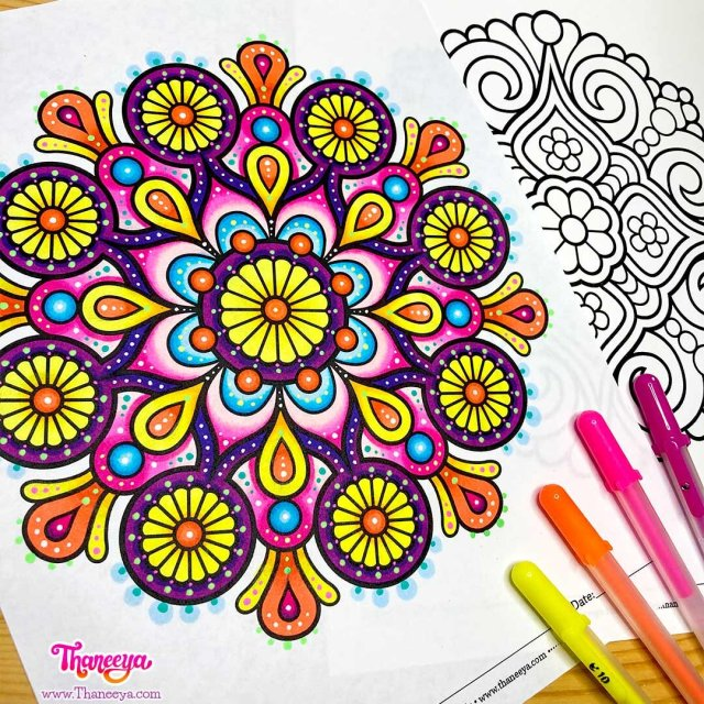 Easy Mandala Coloring Pages - Set of 27 Printable Mandala Coloring