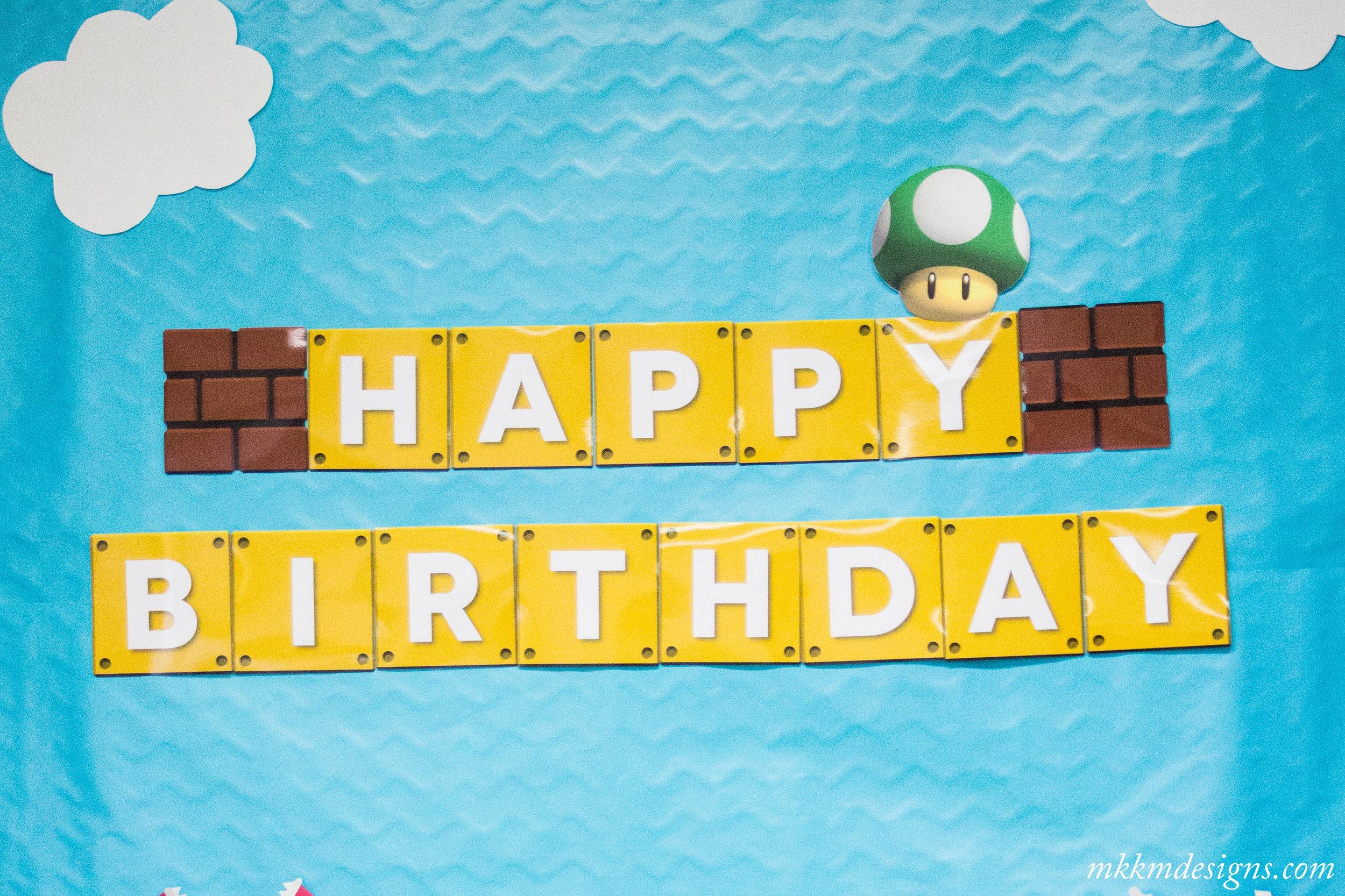 Super Mario Party Recap With Free Printables Merry Grace Design Co