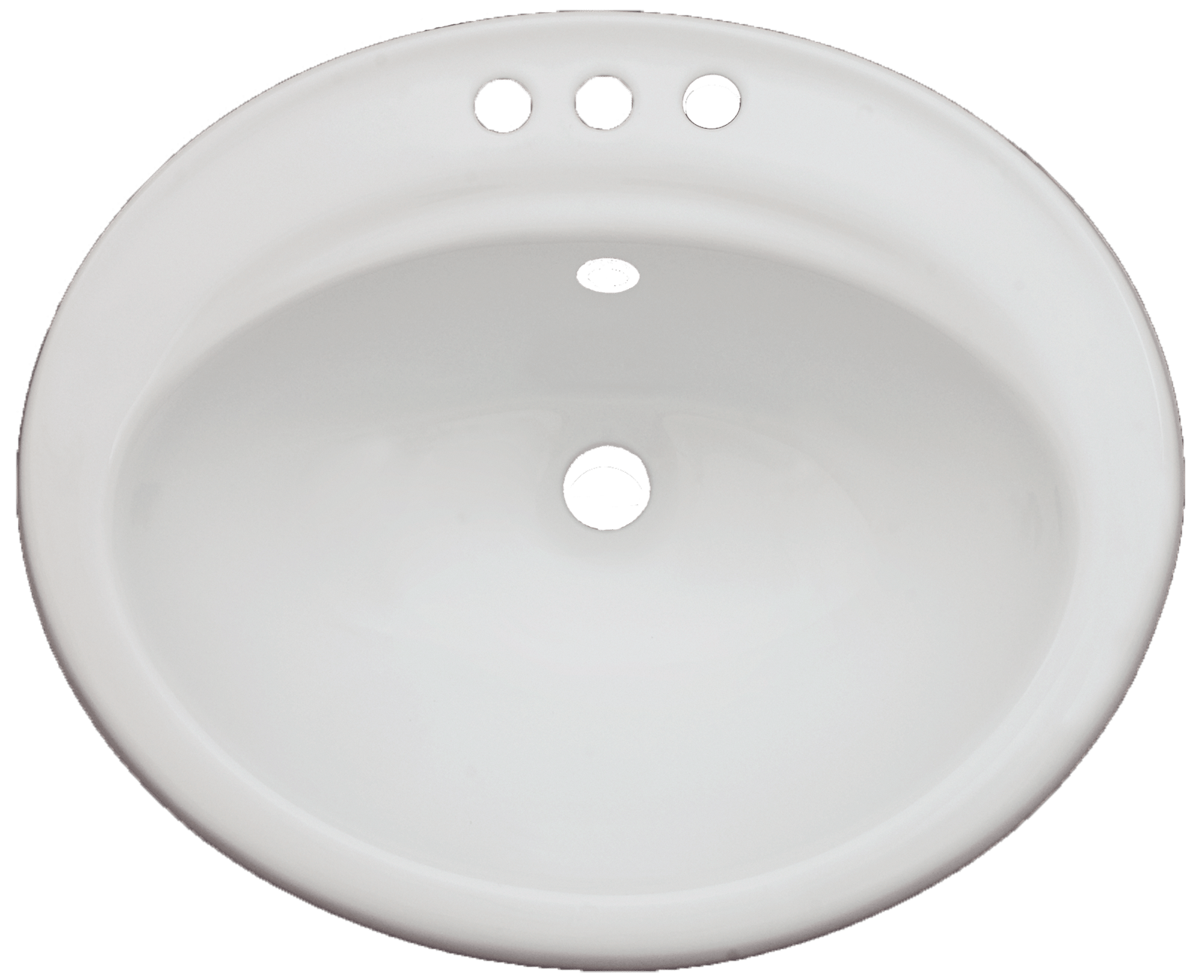 daisy 3 hole porcelain oval drop in 3 hole vanity sink in white bisque blue pearl stone