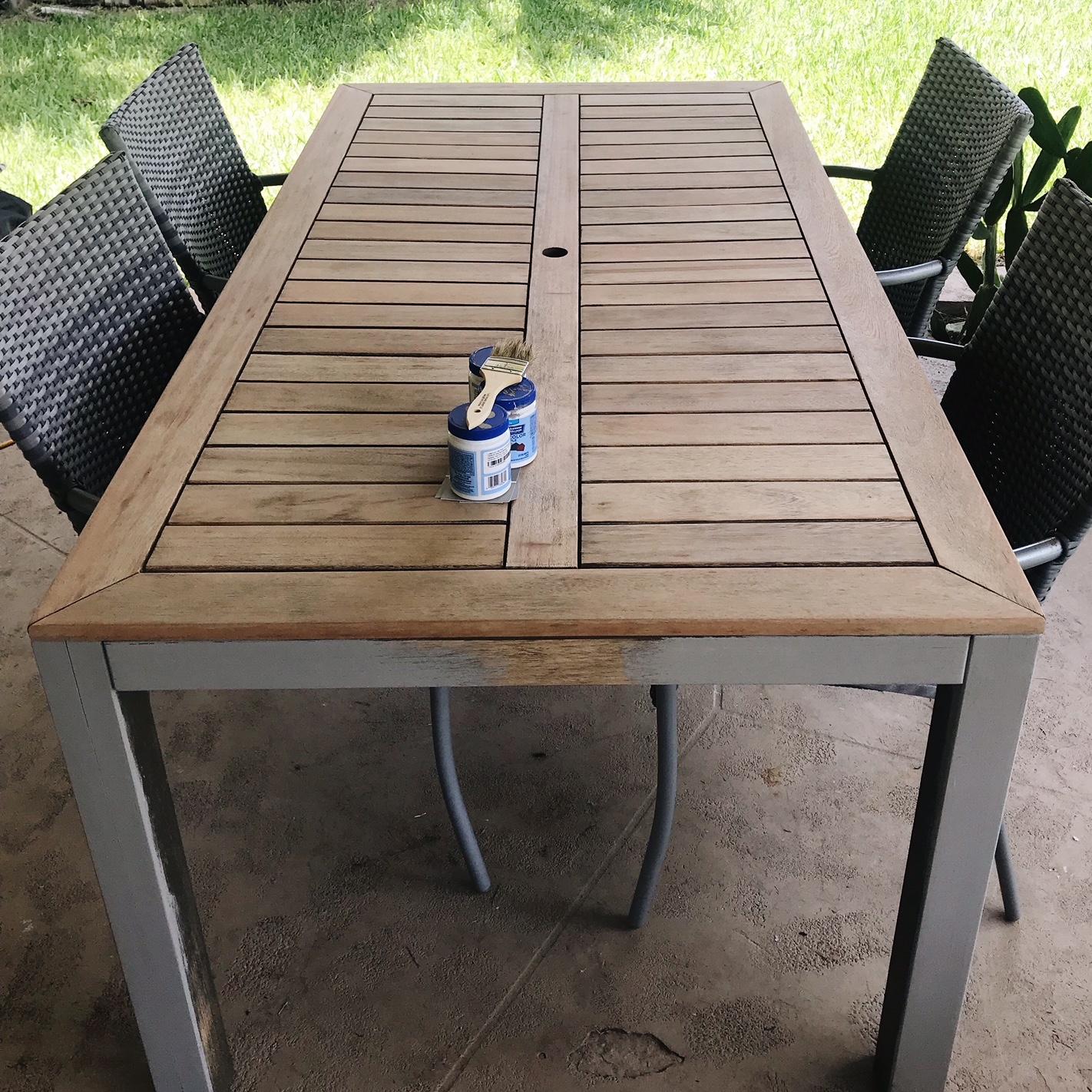 Outdoor Table Makeover H E A R T S W E L L