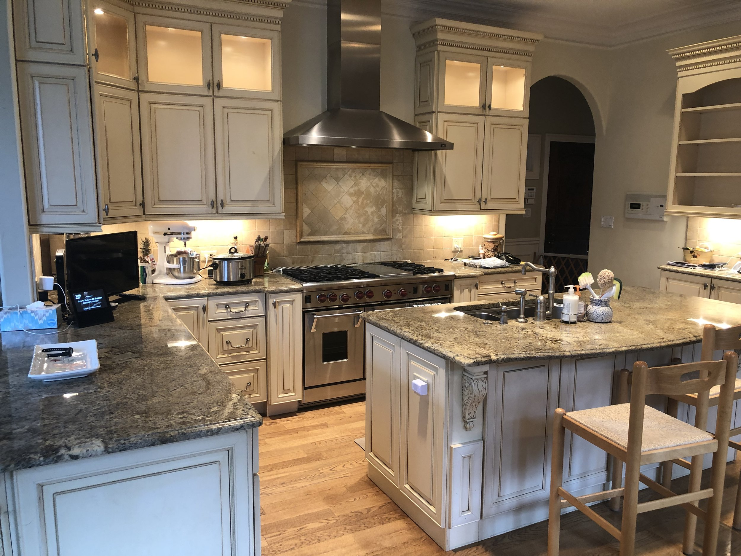 incredible deal complete french country wood kraftmaid kitchen wolf sub zero stainless steel granite counters priced to sell little green kitchens