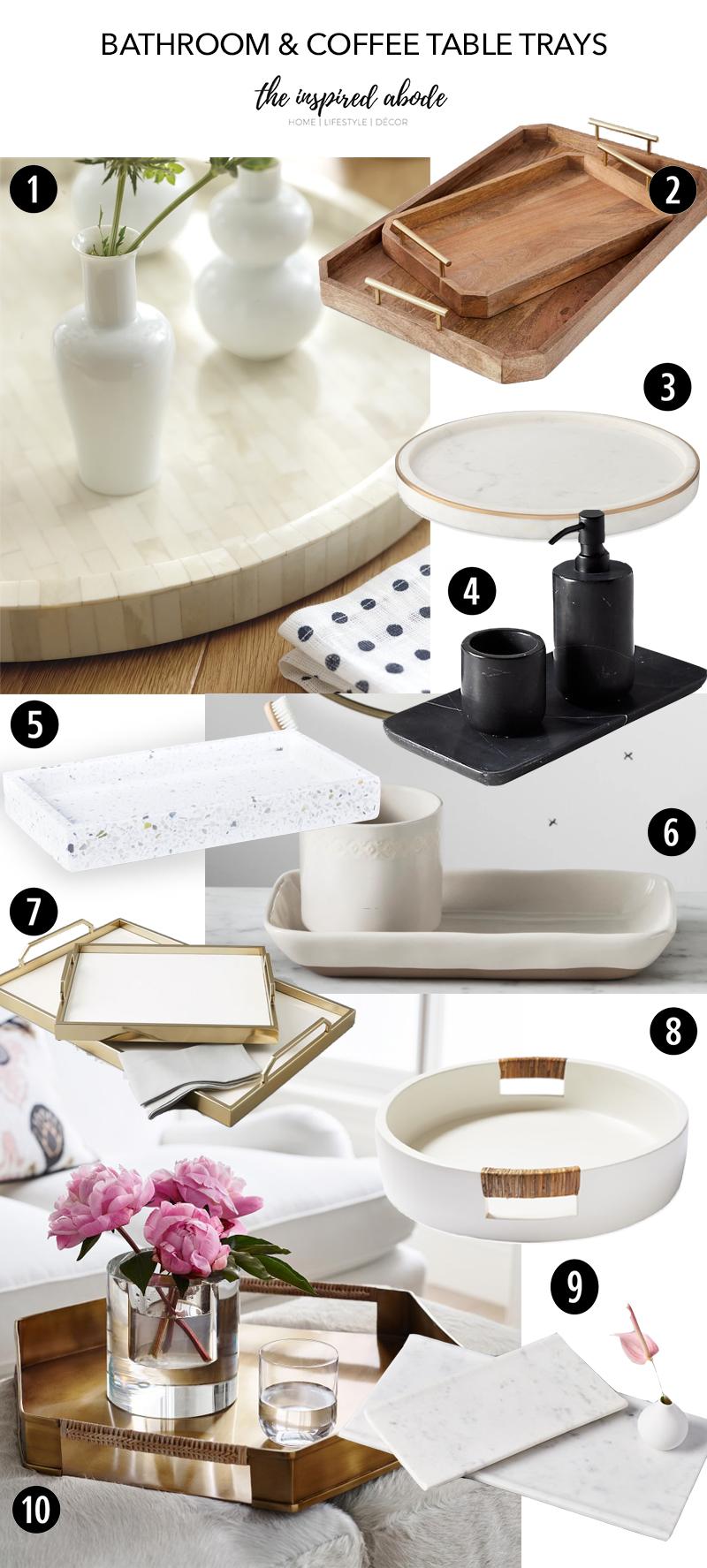 favorite bathroom coffee table trays