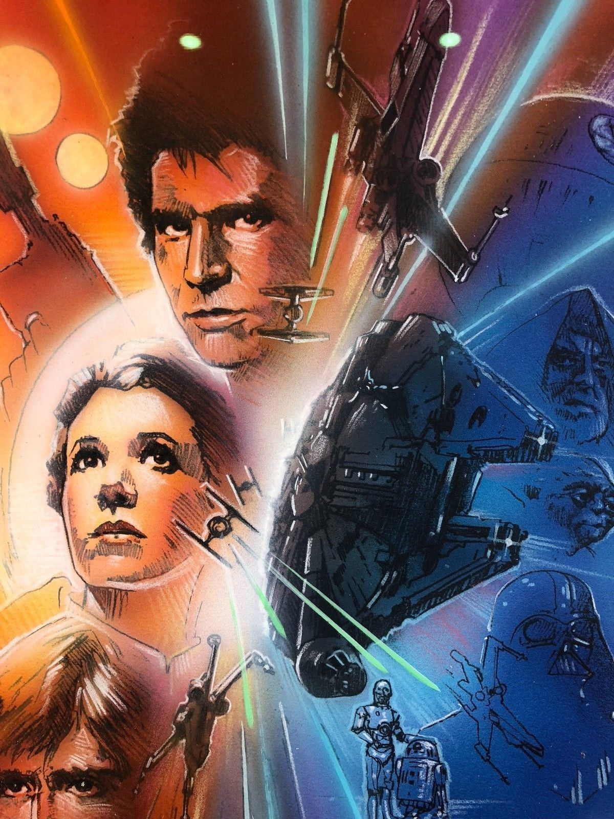 star wars movie poster comprehensive painting by john alvin galactic gallery