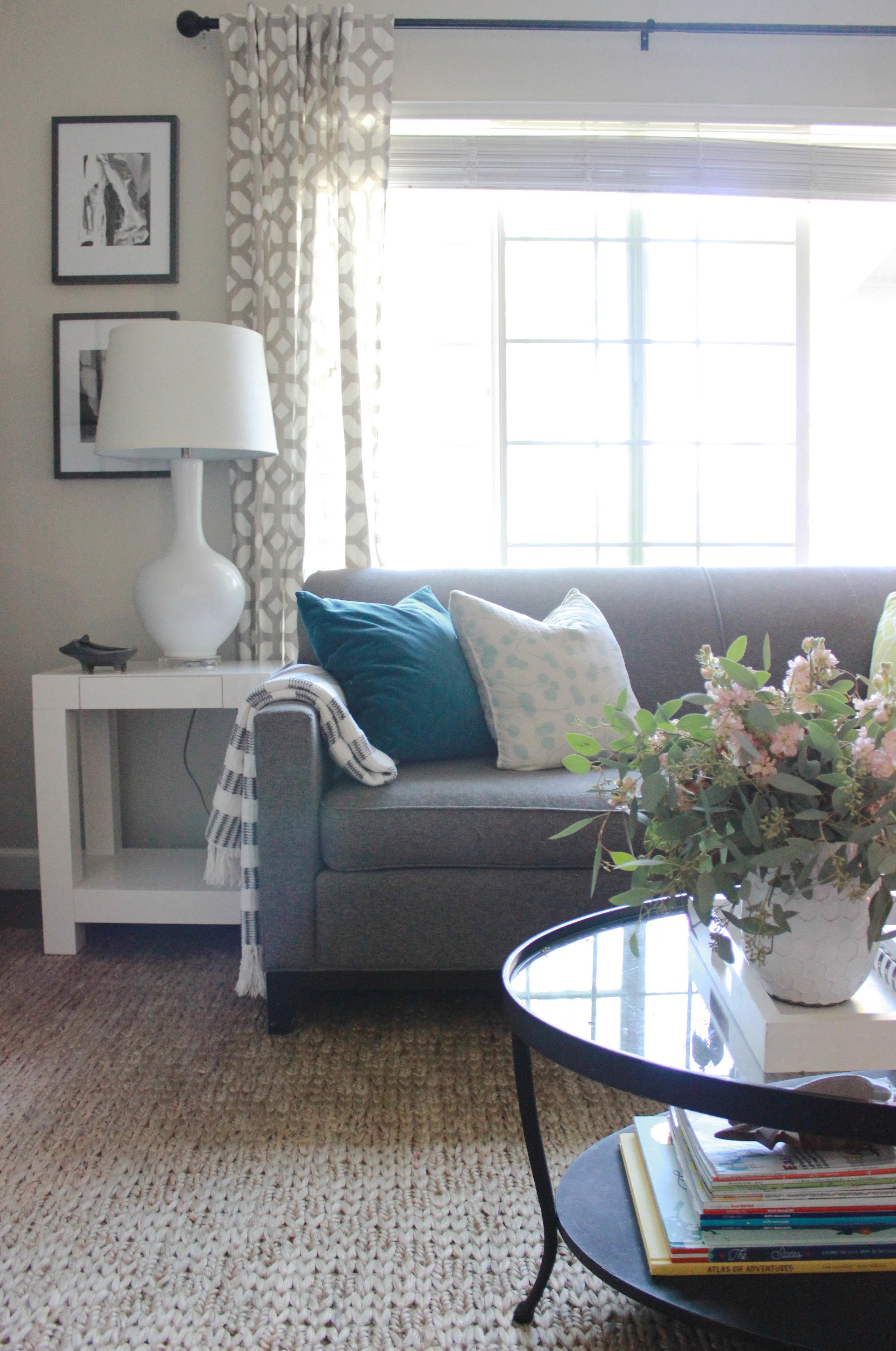 Living Room Update Jute Rug Addition Addiction Katrina Blair Interior Design Small Home Style Modern Livingkatrina Blair