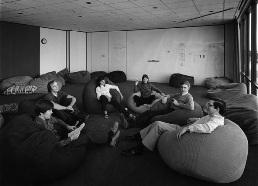 "The ""beanbag"" conference room at Xerox PARC Computer Science Laboratory"