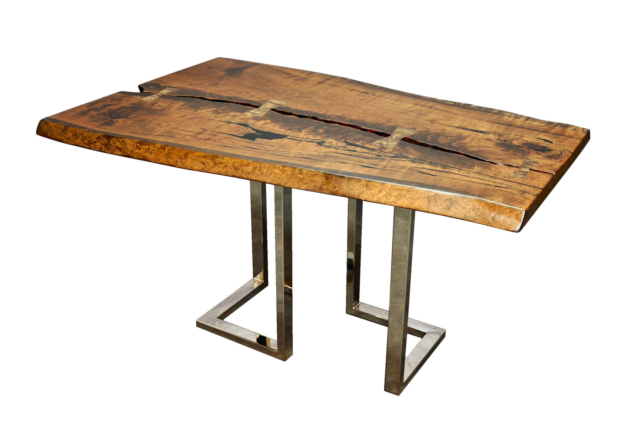 live edge metal tables taylor made