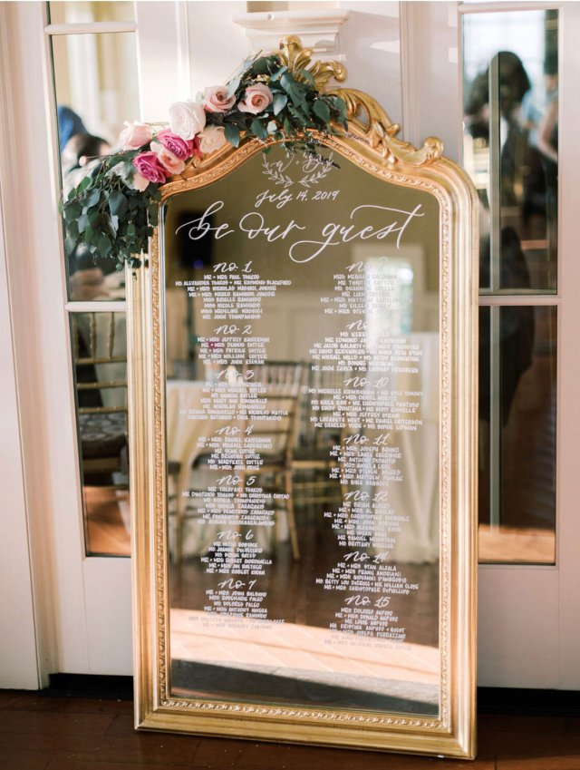 Seating Chart vs. Escort Cards vs. Place Cards — Hoboken New