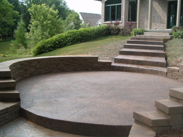 retaining walls and steps b w