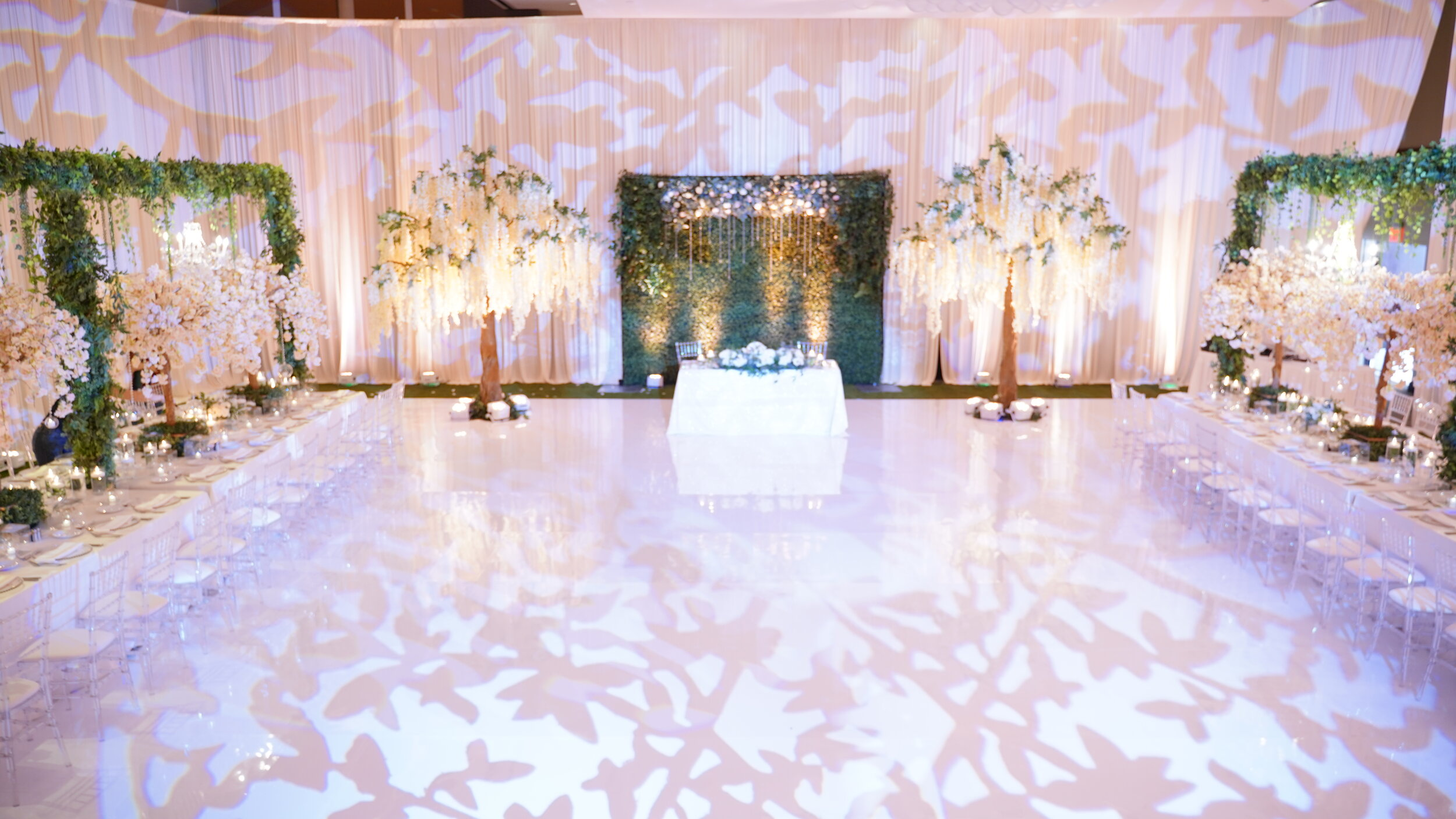 event lighting satin chair event