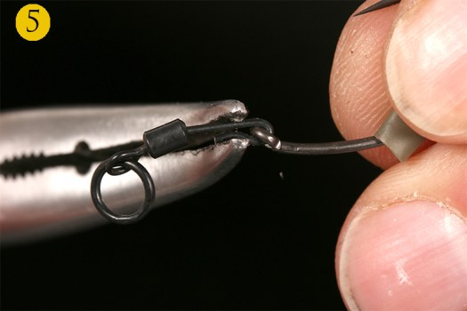 So once the hook eye is in place squeeze the crook closed with pliers.