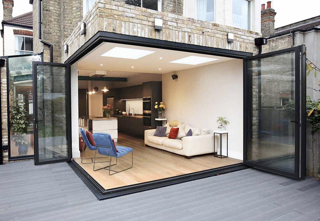 aluminum folding glass doors