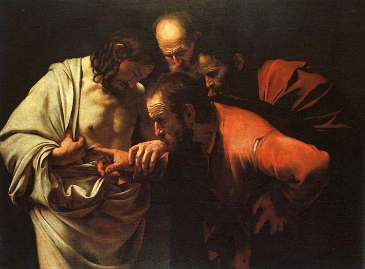 A Incredulidade de Thomas por Caravaggio