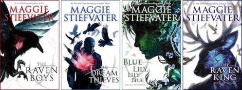 The Raven Cycle by Maggie Stiefvater: The Raven Boys, The Dream Thieves, Blue Lily, Lily Blue, The Raven King