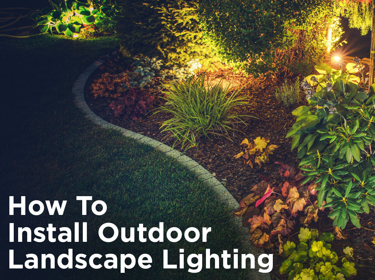 how to install low voltage outdoor