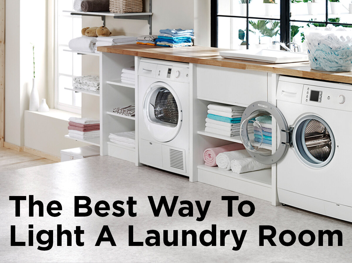 the best way to light a laundry room