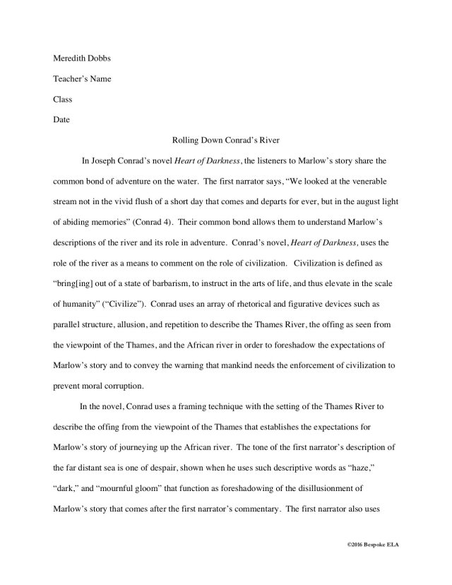 How to Sequence a Literary Analysis Essay Unit — Bespoke ELA