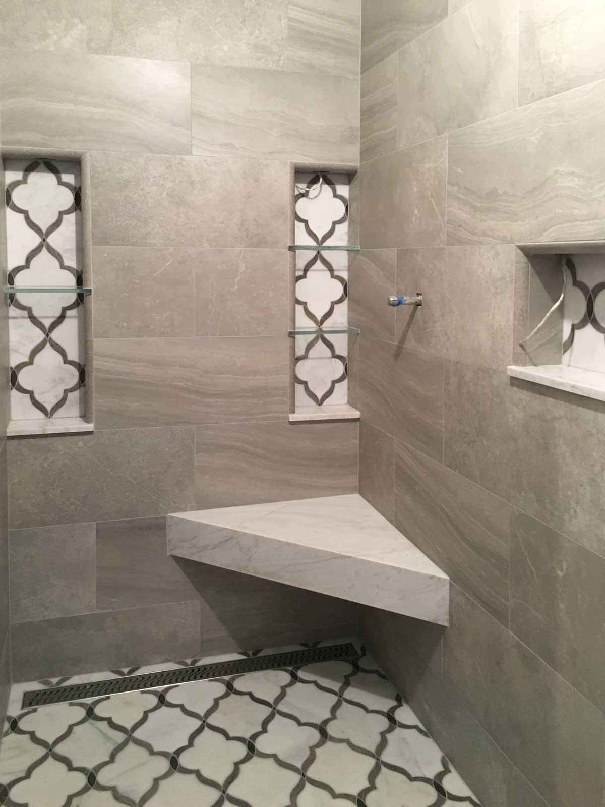 sneak peak stunning tile in master