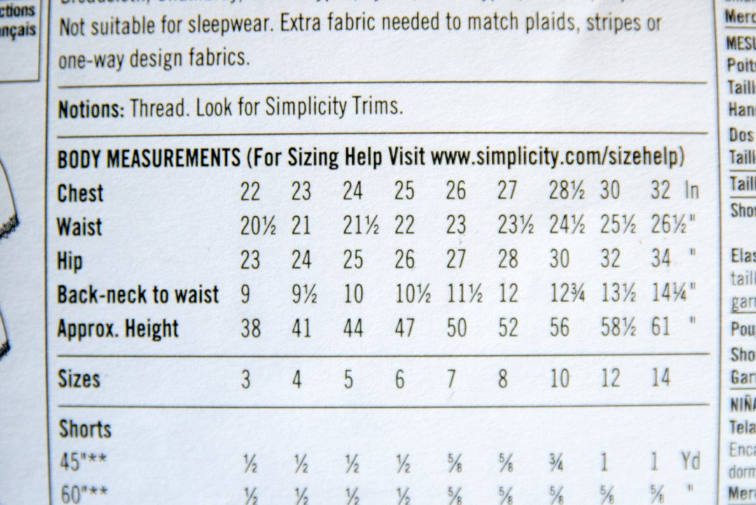 How to read a sewing pattern: sizing, by www.pincutsewstudio.com