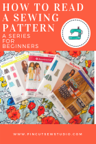 How to read a sewing pattern part 3: cutting out your pieces, by www.pincutsewstudio.com