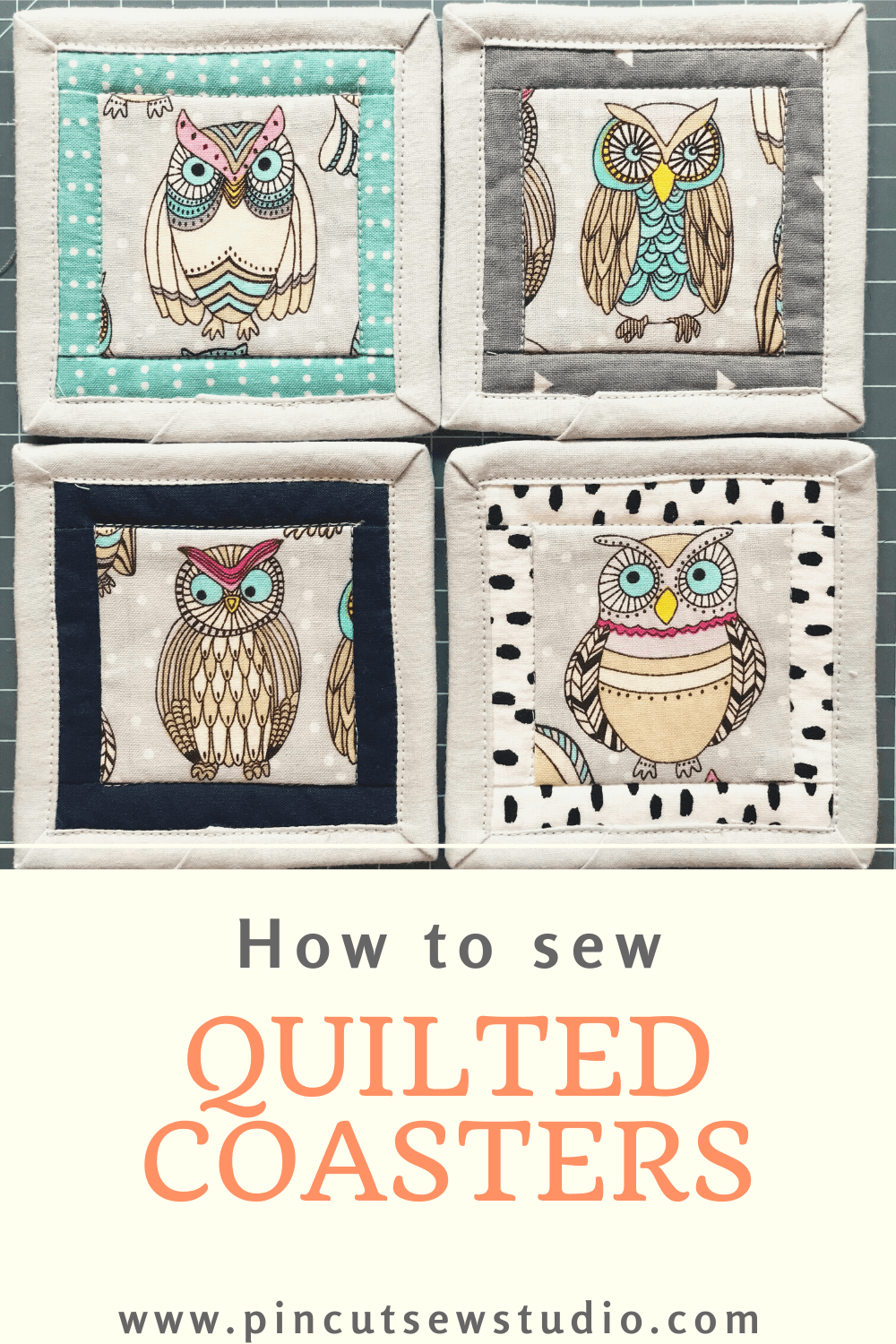 Quilted Fabric Coasters - Easy Sewing Tutorial