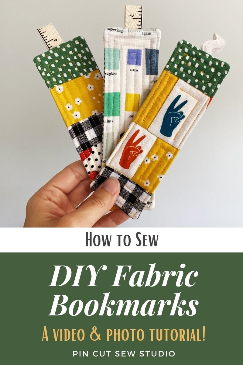 Easy Fabric Bookmarks You Can Sew From Scraps