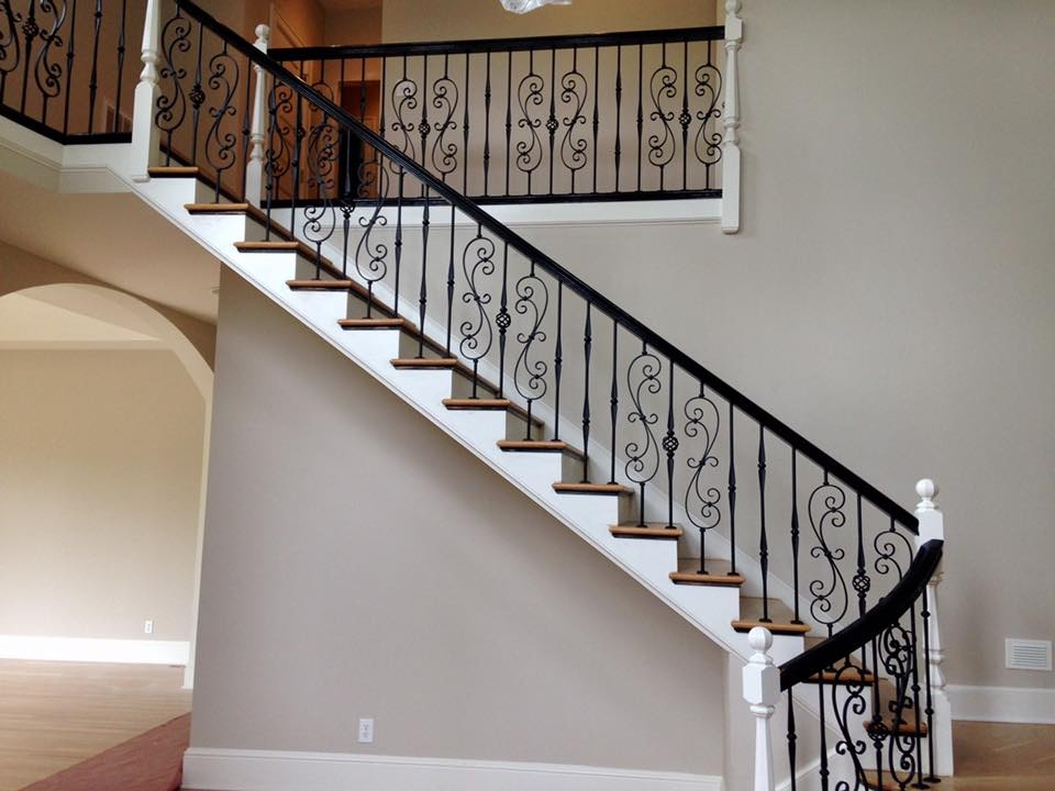 Master Fabrication — Wrought Iron Staircase Design Center | Cast Iron Handrails For Stairs | Baluster Curved Stylish Overview Stair | 1920'S | Iron Railing | Exterior Stair | Georgian