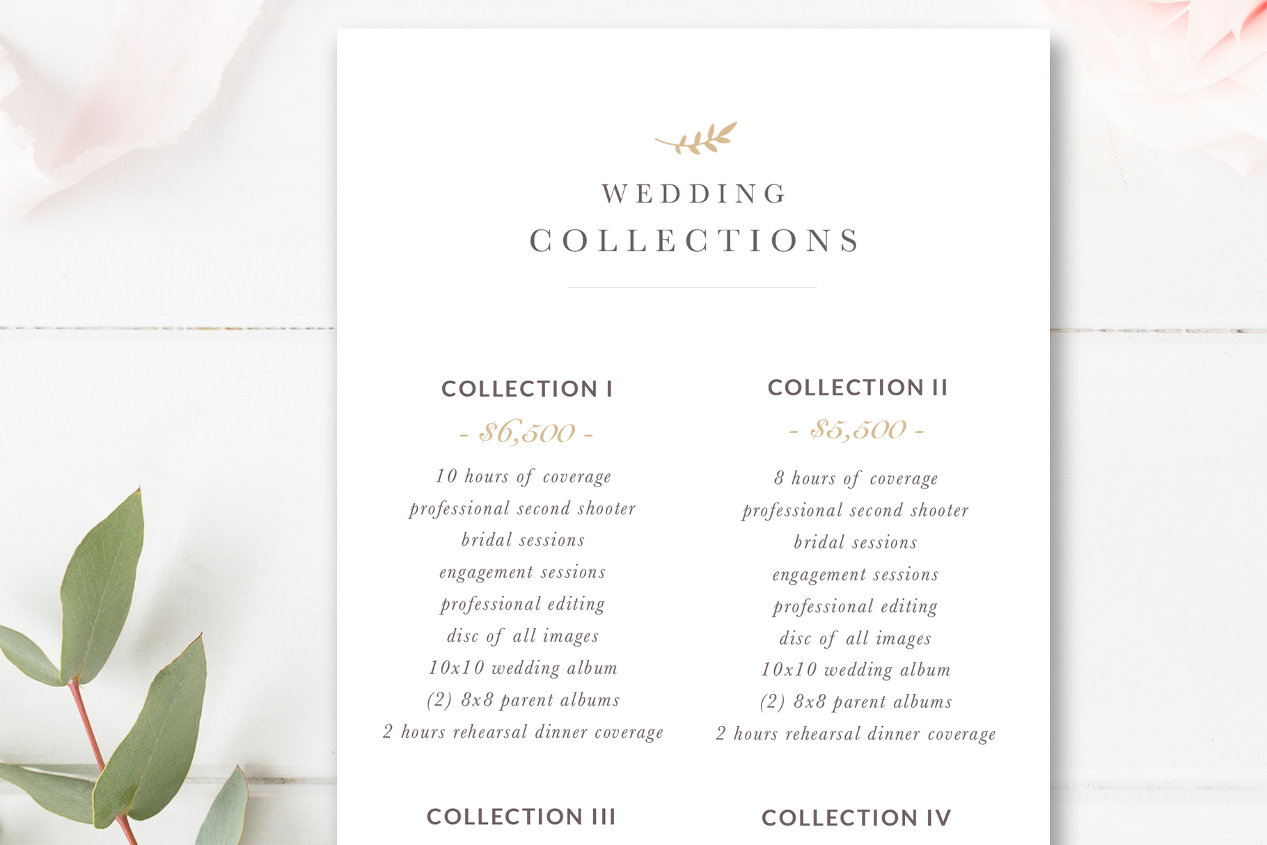 Wedding Photographer Rack Card Template Photoshop Template By Stephanie Design