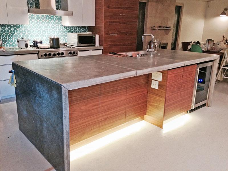 eichler kitchen remodel led toe kick