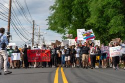 Maplewood and South Orange Teachers Teachers for Black Lives Matter March and Rally, Maplewood, New Jersey Photo by Joy Yagid