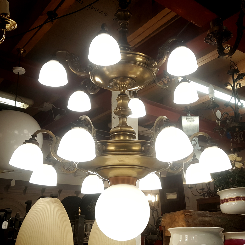 spectacular brass church chandelier light 0693 holyrood architectural salvage