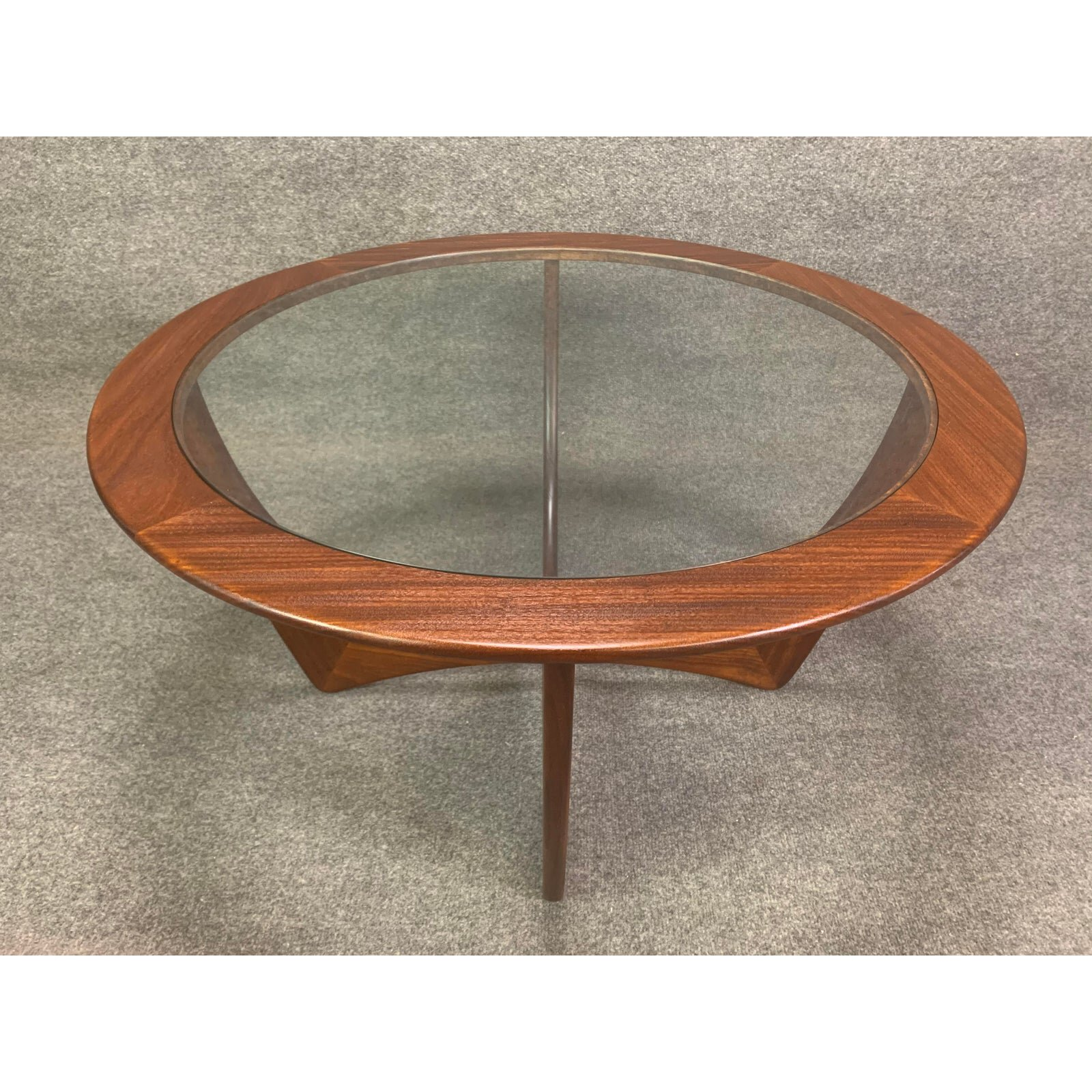 vintage british mid century modern teak astro coffee table by g plan aymerick modern