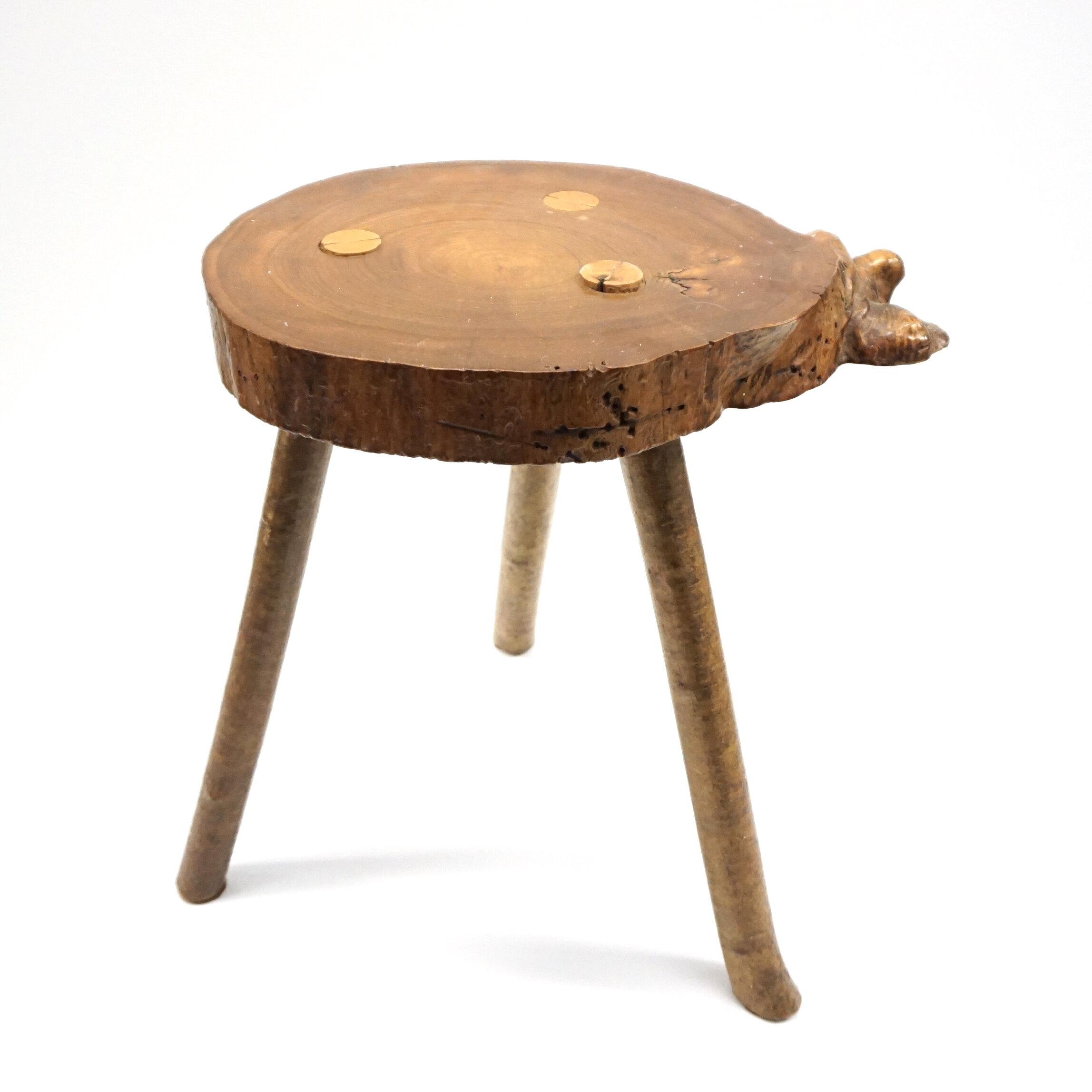 primitive wood side table audra kiewiet de jonge art interiors