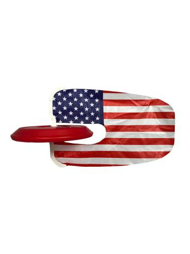 Tail Finz throw disc collectible flag characters stabilized flight fun safe active durable rip stop nylon flag low resistance easy transport American Flag Product