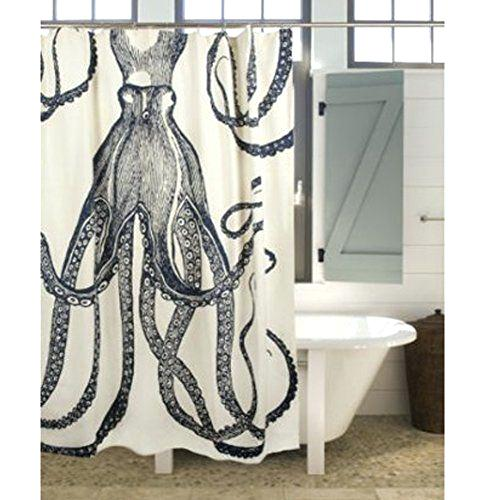 72 octopus shower curtain ink by thomas paul table leg home