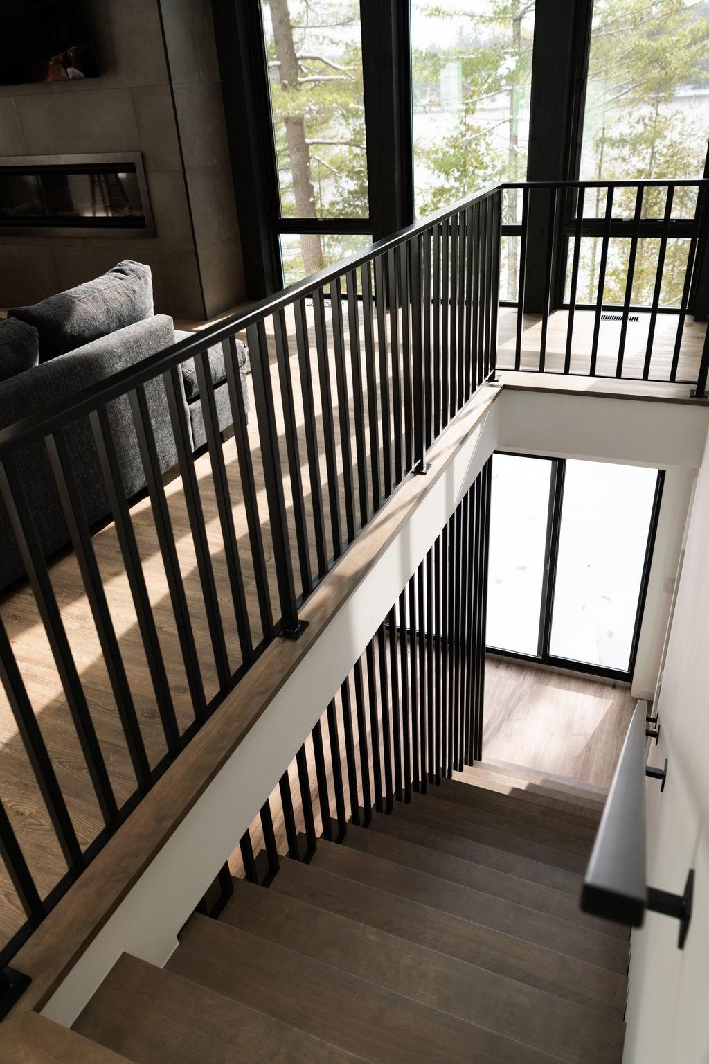 Eels Lake — Wade Halbert   Oak Wall Mounted Handrail   Oak Stair   Mopstick   Return   Handrail Bracket   Contemporary