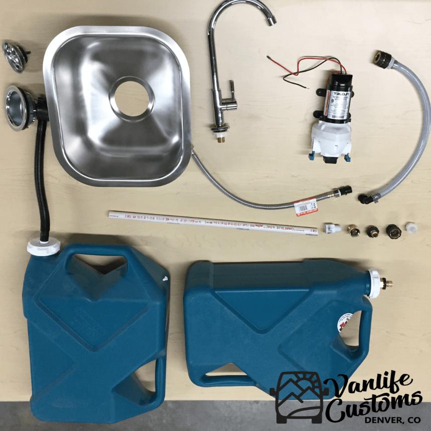 camper van diy sink and water system