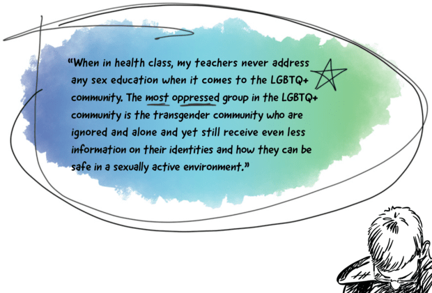 Transgender and gender-expansive youth face many serious challenges in the school system. In addition to more overt forms of discrimination such as verbal and physical harassment, they also commonly report being barred from using locker rooms or bathroom facilities that match their gender identity and not being addressed by the appropriate pronouns or their chosen names.