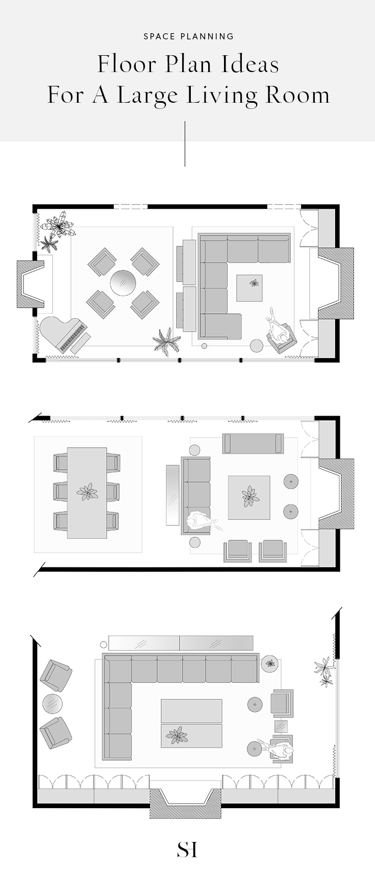 5 Furniture Layout Ideas For A Large Living Room With Floor